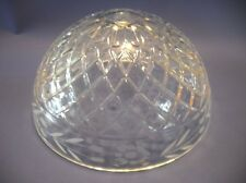 Vintage Princess House Lead Crystal Heavy GLASS TABLE LAMP-LIGHT SHADE Etched