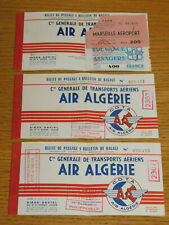 vintage 3 TICKET billet d'avion COMPAGNIE AIR ALGERIE airlines BOARDING PASS fly