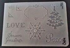 Sizzix cartella goffratura grande albero di Natale fiocco di neve la pace si adatta Cuttlebug