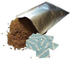 10x Bolsas De Lámina Mylar extra gruesa de 30 X 34cm y 02 absorbedores de almacenamiento de alimentos a largo plazo