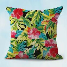 Us Seller- awesome pillow cases exotic hibiscus flower leaf summer cushion cover