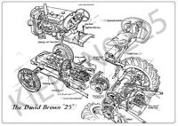 (A3) David Brown Case Poster Tractor Brochure '25' Explosion