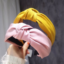 Women's Tie Headband Hairband Knot Hair Band Accessories Retro Wide Hair Hoop
