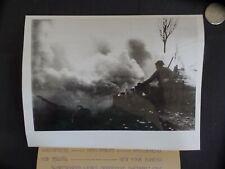 WW2 PRESS PHOTO. BIGGEST SMOKE SCREEN OF THE 2ND WORLD WAR. 3/22/45