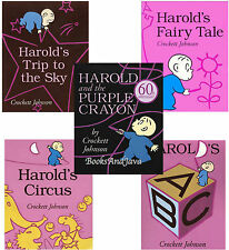 HAROLD AND THE PURPLE CRAYON 5 pack Fairy Tale,Circus,ABC Trip to Sky