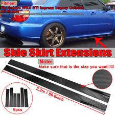Carbon Fiber Look Side Skirts Extension For Subaru WRX STI Impreza BRZ
