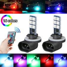 2X 16 Colors 881 5050 RGB LED 12SMD Car Headlight Fog Light Lamp Bulb + Remote