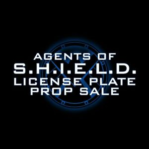 • AGENTS OF SHIELD • PRODUCTION MADE LICENSE PLATES • ACTUAL MARVEL PROPS •