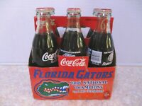 Coca-Cola 1996 Florida Gators National Champions Commemorative Glass Bottles