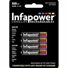 4 pcs pack Infapower b009 aaa ni-mh rechargeable batteries 550mah-NEUF