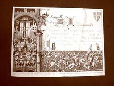 Per il Centenario di Legnano del 1876 Pergamena antica La Battaglia di Legnano