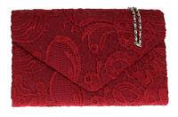 Elegant Satin Lace Clutch Bag Womens Designer Wedding Rose Gold Evening Handbag