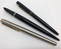Vintage Lot of Fountain Pens Parker 21 & M Plus Ballpoint Space Pen (RF1076)