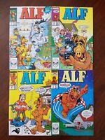 Vintage ALF Comic Books #2, #3, #4, #8.  Lot of 4 MARVEL 1988 NM- 9.2