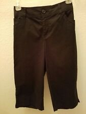 Walking Shorts Black Size 6P New Tags Pedal Pushers Bermuda Shorts St Johns Bay