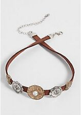 Maurices~New With Tags~choker with metal pendants