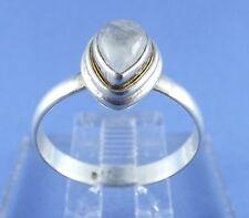 Unique Sterling Silver Rutilated Quartz Pear Shape Cocktail Ring 925