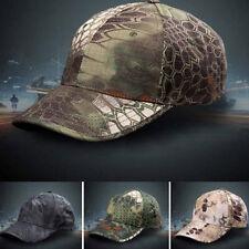 Men Camouflage Military Adjustable Hat Camo Hunting Fishing Army Baseball Cap HV