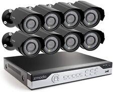 Zmodo 8CH DVR Analog CCTV 700TVL HD Motion Bullet 8 Pack Security Cameras