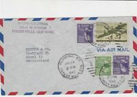 united states 1948 bruno goldberg forest hill NY air mail stamps cover ref 21118