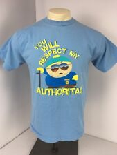 VTG 90s South Park YOU WILL RESPECT MY AUTHORITA!! Comedy Central T-Shirt M USA