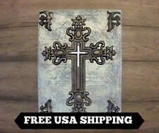 Cross Wall Plaque w/ Jewel Cross | Cross Wall Decor | Hanging | Wall Art | Bling