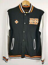 Ed Sheeran Varsity Letter Jacket Unisex Size Medium Black White Orange Excellent