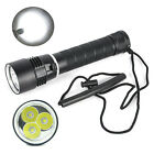Underwater 200m 8000LM 3X XM-L2 LED Scuba Diving Flashlight Torch 18650/26650 LP