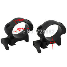 Hunting Quick Release Steel Rings Scope Mounts Low Profile 30mm Ring Mounts