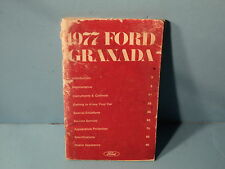 77 1977 Ford Granada owners manual