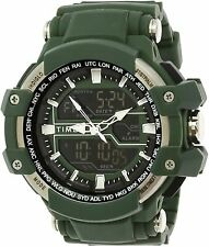 Timex Men's TW5M22800 Tactical Big Combo 53mm Marine Green Resin Strap Watch