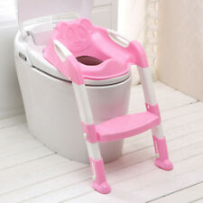 New listing Trainer Toilet Potty Seat Chair Kids Toddler w/Ladder Step Up Training Stool Usa