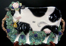 Vintage Fitz & Floyd Heidi Holstein Cow Serving Platter 1994 (with original box)