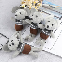 Horizontal striped mouse plush doll bag pendant key pendant ornament stuffed toy
