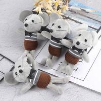 Horizontal striped mouse plush doll bag pendant key pendant ornament stuffed FE