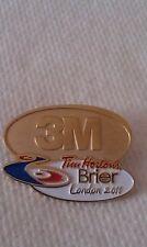 CURLING PIN TIM HORTONS BRIER 2011 LONDON Sponsor 3M
