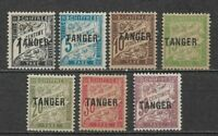 FRENCH MOROCCO (TANGER) Complete set mint stamps 1918,  YVERT TAXES 35/41