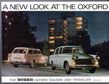 Morris Oxford Series VI 1967-69 UK Market Sales Brochure Saloon Traveller