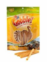 Gobble! Turkey Tendon Sticks for Dogs, Made in USA (6 Ounce Reseal Value Bag)