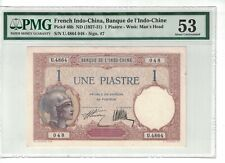 FRENCH INDOCHINA 1 Piastre 1927-31 Pick# 48b About UNC. Condition (#1821)