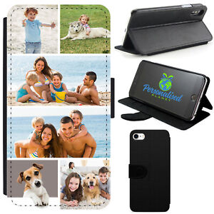 Personalised Collage Photo Leather Flip Phone Case for Apple iPhone 6/7/8/XS/MAX