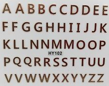Nail Art 3D Decal Stickers Gold Alphabet Letters HY102