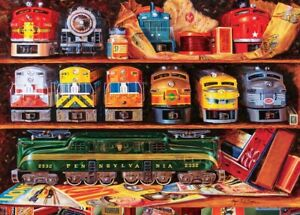 """Jigsaw puzzle Lionel Model Trains Well Stocked Shelves 2000 Piece NEW 27""""x39"""""""