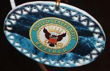 Military US Navy Retired Ceramic Christmas Ornament gift box USA made 50127