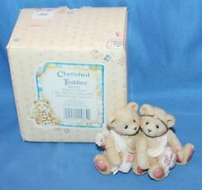 Cherished Teddies Heart To Heart Boy & Girl. Figurine # 869082 1994 By Enesco