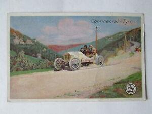 Early Continental Tyres  postcard. Motorsport postcard. Motorsport