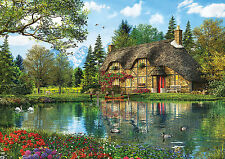 PUZZLE 2000 PIEZAS teile pieces LA CASA DEL LAGO - LAKE VIEW COTTAGE EDUCA 16774