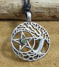 Tree of Life Pentacle Pendant Necklace Pentagram Druid Pagan Wicca Jewellery