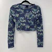 Urban Outfitters out from under floral waffle crop sweater sz M New