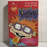 Vintage 1996 Rugrats Valentine's Day 34 Cards American Greetings Nickelodeon NOS